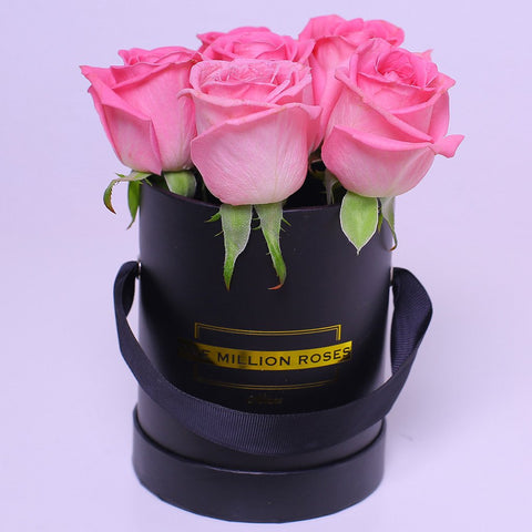 Classic Collection - Mini Box - Rose Rosa - Scatola Nera