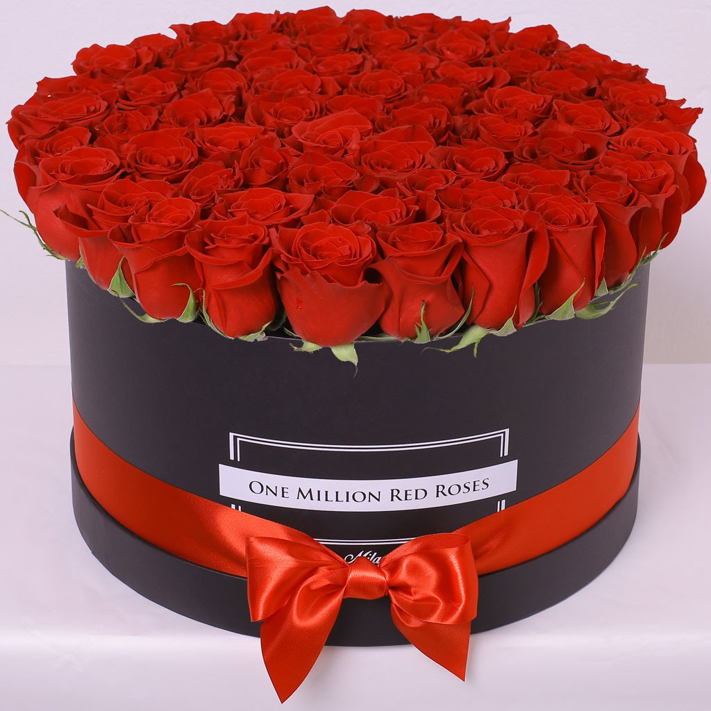 Classic Collection - One Million Box - Rose Rosse - Scatola Nera