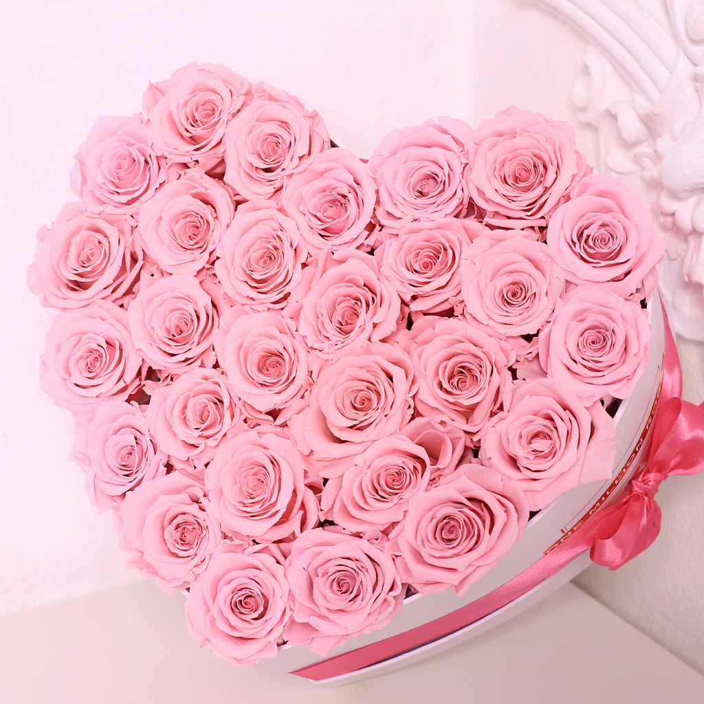 Senza Tempo - Mille Rose - Love Box - Rose Rosa - Scatola Bianca