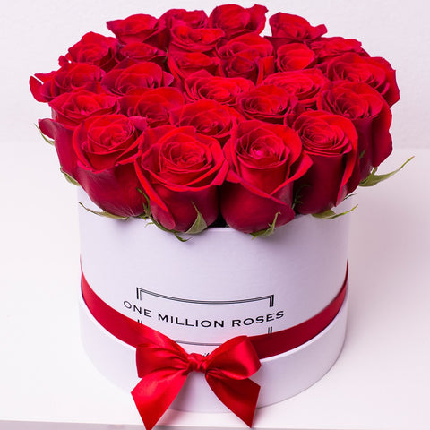 Classic Collection - Small Box - Rose Rosse - Scatola Bianca