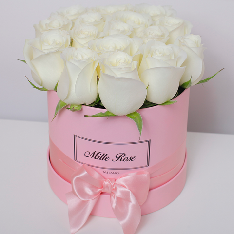 Classic Collection - Small Box - Rose Bianche - Scatola Rosa