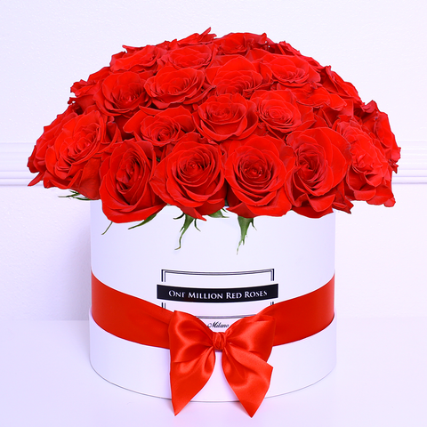 Classic Collection - Medium Box - Rose Rosse Sfera - Scatola Bianca