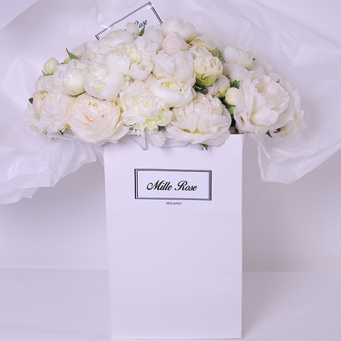 Mille Rose Collection - Bag Box - Peonie Bianche