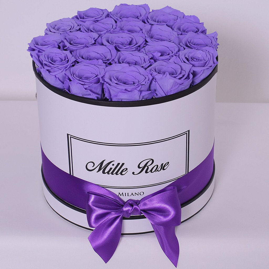 Senza Tempo - Mille Rose - Medium Box - Rose Lilla - Scatola Bianca