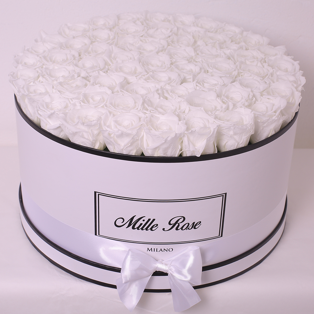Senza Tempo - Mille Rose  - One Million Box - Rose Bianche - Scatola Bianca