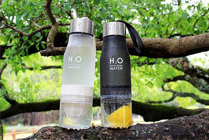 The H2O™ Fruit Infuser Water Bottle with Lemon Holder Cup | Drink More Water