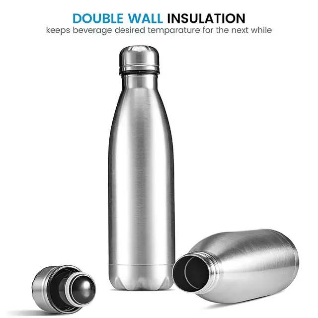 Best Stainless Steel Double Vacuum Insulated Thermos Flask Water Bottle 17 oz 500ml | Eco Friendly Stylish Cute Design Outdoor Travel Sports Bottles. Buy Online