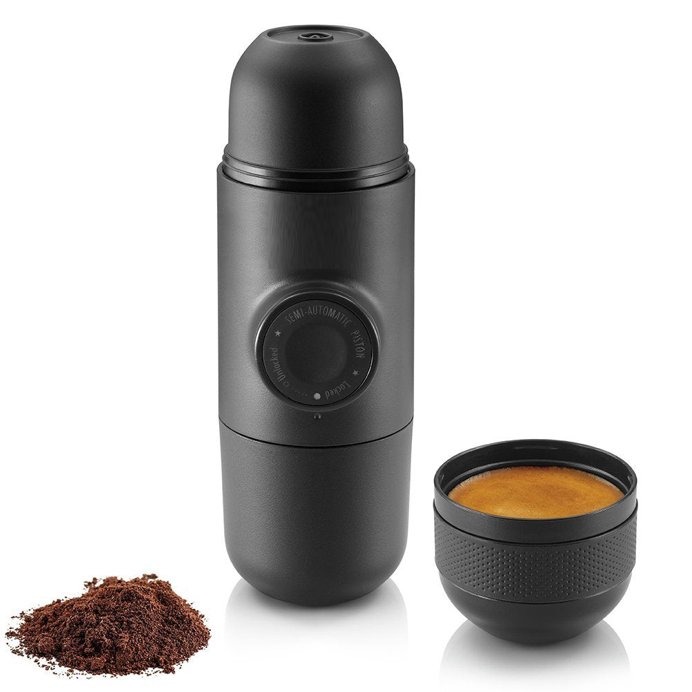 Best Portable Mini Espresso Machine, Compatible Ground Coffee, Small Pocket Size Travel Coffee Maker, Manually Operated from Piston Action On the Go Manual Machine Mini Coffee Americano Espresso Maker Handheld Pressure Machine Pressing Cup For Travel Outdoor Hiking Backpack Size | Wacaco Minespresso Minipresso Buy