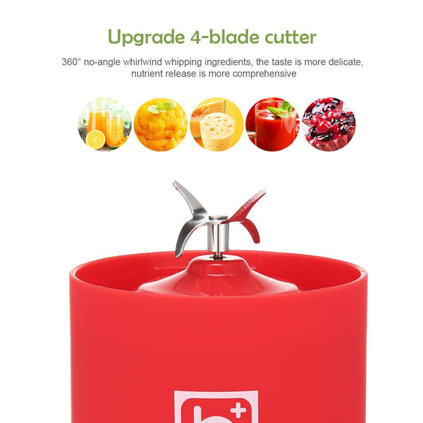 Portable USB Rechargeable Personal Fruit Hand Blender | Smoothie Baby Food Protein Milk Shake Maker Food Processor Ice Crusher Machine Large Size 17 oz 500ml Buy Order Purchase Online Best Top Reviews Amazon Walmart Target Home Depot