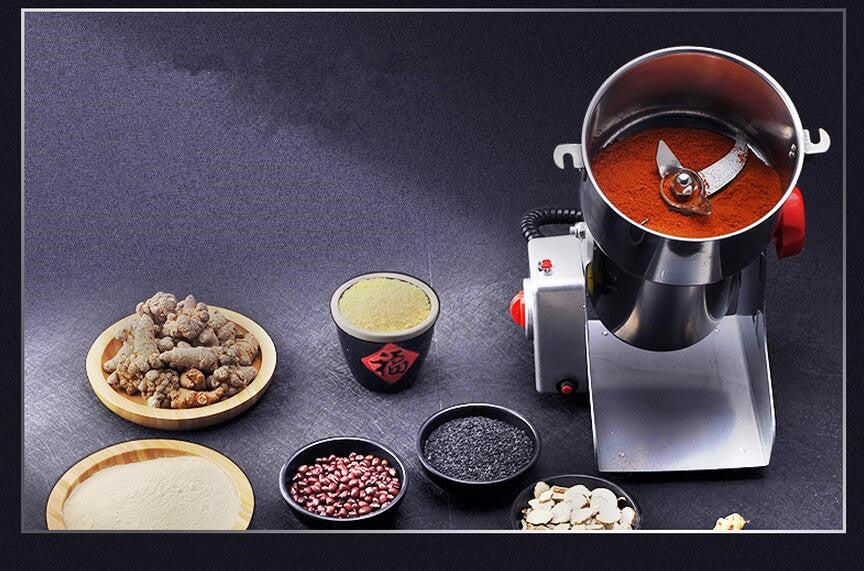 Grain Grinder Mill Stainless Steel Electric High Speed Powder Machine Cereals Flour Herb Spice Pepper Coffee Bean Pulverizer Commercial Heavy Duty Professional Buy Online Order Amazon Best Buy Walmart Target Purchase