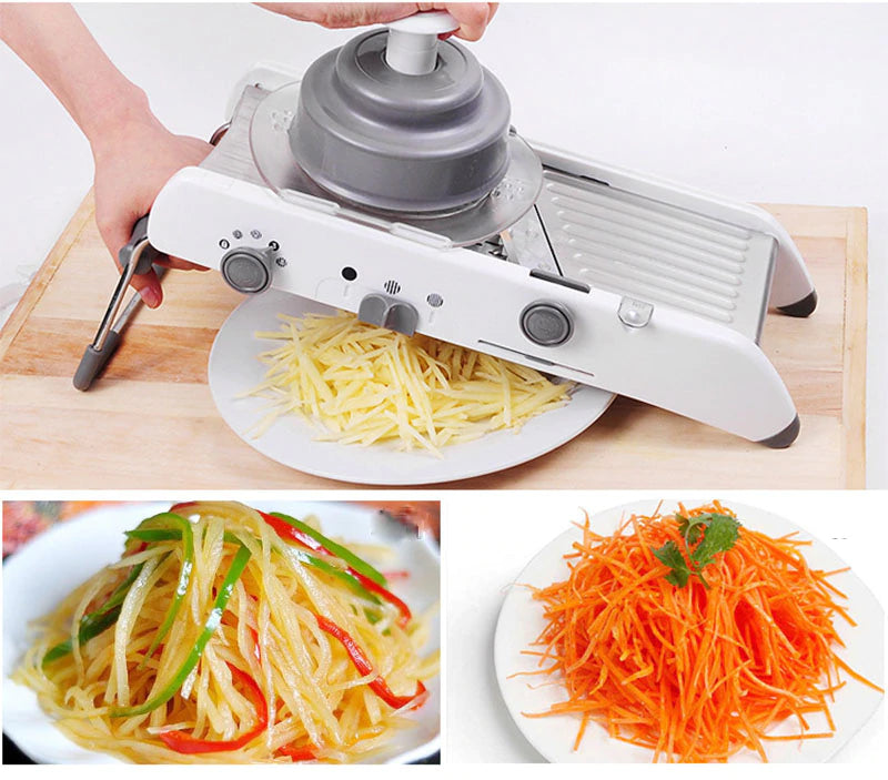 Professional Heavy Duty Manual Multi Function Vegetable Cutter & Mandoline Slicer Adjustable 304 Stainless Steel Blades | Onion Potato Fry Carrot Veggie Machine Buy Order Purchase For Sale Best Price Review Online