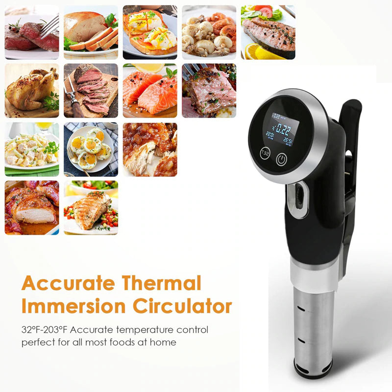 Best Sous Vide Cooker Machine 1500-Watt Immersion Circulator for Tender Steak 304 Stainless Steel Professional Vacuum Heater with Digital Timer Commercial Home Restaurants Heavy Duty Kitchen Buy Order Purchase Sale Price Review