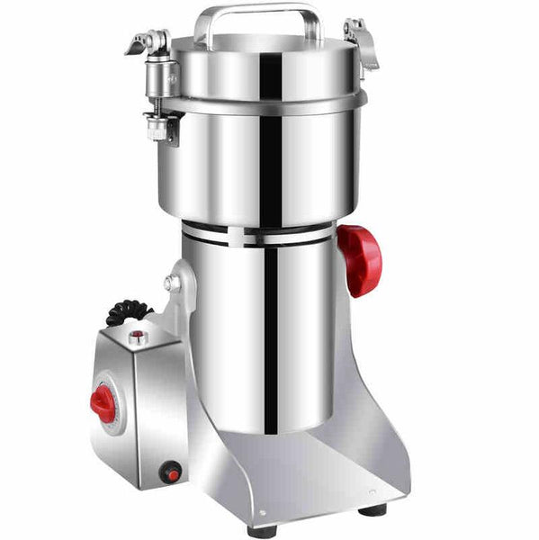 Grain Grinder Mill Stainless Steel Electric High Speed Powder Machine Cereals Flour Herb Spice Pepper Coffee Bean Pulverizer Commercial Heavy Duty Professional