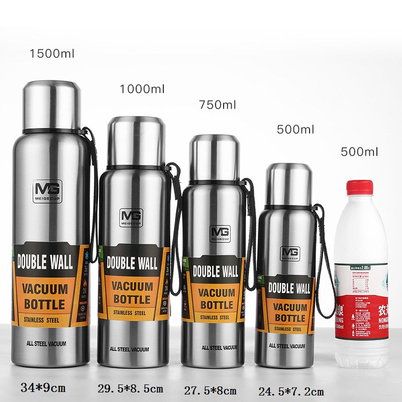 Heavy Duty Stainless Steel Double Vacuum Insulated Thermos Flask Water Bottle 17 oz 500ml 750ml 1000ml 1500ml 12 oz 16 oz 20 oz 24 oz 32 oz 50 oz | Portable Eco Wide Mouth Stylish Military Design Outdoor Travel Sports Bike Hiking Bottles. Buy Online Hydroflask Stanley Hot and Cold Tumbler Leak Proof Metal Hydro Flask