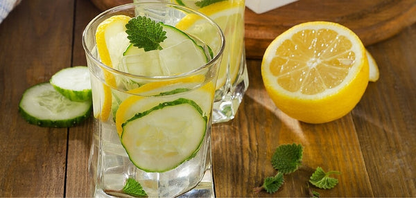 lemon cucumber water infusion recipe
