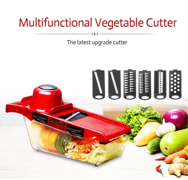 2019 New High Quality German Blades Multi Function Vegetable Cutter & Mandoline Slicer Adjustable 301 Stainless Steel Blades Onion Fruits Fries Tomato Cucumber Cheese Potato Fry Carrot Veggie Machine | Best Quality Mandoline Slicer | Vegetable Chopper Grater Salad Potato Chip Maker | Thin Thick Coarse Wave Strips Cut Buy Order Purchase For Sale Online