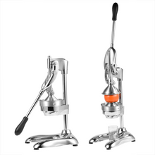 Load image into Gallery viewer, Buy the best heavy duty, commercial, hand held press, manual orange pomegranate citrus squeezer. Professional restaurant, industrial kitchen, bar, street shop. Hand operated traditional orange juicer for sale buy order online 304 stainless steel price reviews