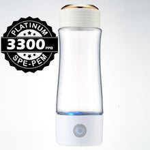 Load image into Gallery viewer, 2019 3300ppb SPE/PEM 3rd Gen Korean Titanium SPE | Portable Hydrogen Water Generator Bottle | USB Rechargeable Ionizer-The H2O™ Water Bottles-The H2O™ Water Bottles - Buy Now Order For Sale Best Price Online Shop Purchase Review Amazon Walmart Best Buy Free Shipping