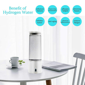 2019 SPE/PEM High Tech 2nd Gen Portable Hydrogen Water Generator Bottle | USB Rechargeable Ionizer-The H2O™ Water Bottles-The H2O™ Water Bottles - Buy Now Order For Sale Best Price Online Shop Purchase Review Amazon Walmart Best Buy Free Shipping