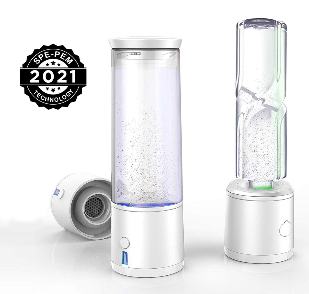 2nd Gen Japan SPE/PEM | Portable Hydrogen Generator Water  Bottle | USB Rechargeable Ionizer