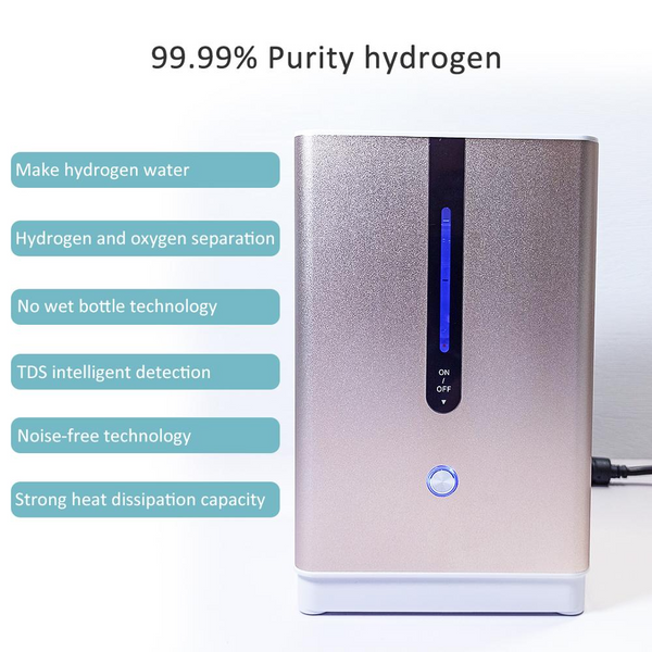 2021 New 99.9% Purity Hydrogen Inhaler Machine for Home Use | SPE PEM Hydrogen Inhalation Therapy Machine | 2-in-1 Nasal Inhalation and Hydrogen Infusion Water Generator Ionizer Countertop | Ultra High Hydrogen Concentration Device