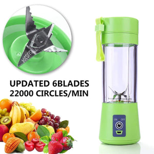 6 Blades Portable Fruit Blender | Smoothie, Protein Shake, Babyfood Maker | USB Rechargeable 13oz-The H2O™ Water Bottles-The H2O™ Water Bottles - Buy Now Order For Sale Best Price Online Shop Purchase Review Amazon Walmart Best Buy Free Shipping