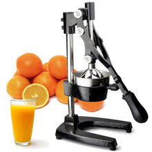 Load image into Gallery viewer, Buy the best heavy duty, commercial, hand held press, manual orange pomegranate citrus squeezer. Professional restaurant, industrial kitchen, bar, street shop. Hand operated traditional orange juicer for sale buy order online 304 stainless steel price reviews cast iron