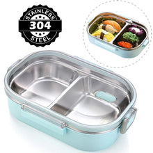 Load image into Gallery viewer, Japanese Style Stainless Steel Bento Lunch Box & Food Container For Adults & Kids | 22 oz-The H2O™ Water Bottles-The H2O™ Water Bottles - Buy Now Order For Sale Best Price Online Shop Purchase Review Amazon Walmart Best Buy Free Shipping