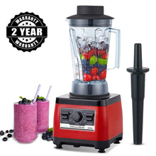 Load image into Gallery viewer, 2200W 3HP Heavy Duty Commercial Fruit Vegetable Bar Blender Mixer | High Performance Professional Restaurant Food Processor | Ice Crusher & Smoothie, Shake Maker 2L Large Capacity Countertop High Speed Machine | Best Electric Kitchen Ninja Vitamix Blendtec Blenders Buy Online Commercial Blenders for Sale Price Reviews 2 year warranty