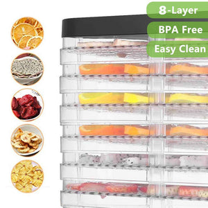 8-Tray Food Dehydrator Machine with Timer | Electric Food Dryer for Jerky, Beef, Fruit, Vegetable-The H2O™ Water Bottles-The H2O™ Water Bottles - Buy Now Order For Sale Best Price Online Shop Purchase Review Amazon Walmart Best Buy Free Shipping