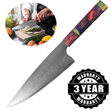 "Load image into Gallery viewer, %100 Pure 67 Layer Hand Forged Japanese Super Damascus Steel 8"" Professional Chef Knife"