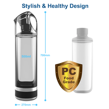 Load image into Gallery viewer, Best Portable Molecular Hydrogen Rich Water Generator Bottle | 2019 SPE PEM Technology Healthy Alkaline Ionizer USB Rechargeable Device Travel & Home Machine. Buy Online