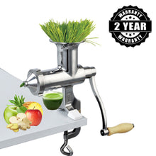Load image into Gallery viewer, Heavy Duty Stainless Steel Manual Hand Crank Herb, Vegetable & Wheatgrass Juicer | Commercial & Home-The H2O Water Bottles-The H2O™ Water Bottles - Buy Now Order For Sale Best Price Online Shop Purchase Review Amazon Walmart Best Buy Free Shipping
