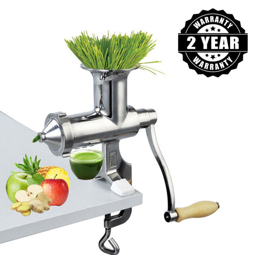 Heavy Duty Stainless Steel Manual Hand Crank Herb, Vegetable & Wheatgrass Juicer | Commercial & Home-The H2O Water Bottles-The H2O™ Water Bottles - Buy Now Order For Sale Best Price Online Shop Purchase Review Amazon Walmart Best Buy Free Shipping