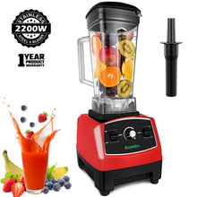 Load image into Gallery viewer, 2200W 3HP Heavy Duty Commercial Fruit Vegetable Bar Blender Mixer | High Performance Professional Restaurant Food Processor | Ice Crusher & Smoothie, Shake Maker 2L Large Capacity Countertop High Speed Machine | Best Electric Kitchen Ninja Vitamix Blendtec Blenders Buy Online Commercial Blenders for Sale Price Reviews