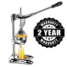 Load image into Gallery viewer, Extra Heavy Duty Stainless Steel Hand Press Manual Citrus & Fruit Squeezer - Commercial-The H2O Water Bottles-%100 Pure Stainless Steel-The H2O™ Water Bottles - Buy Now Order For Sale Best Price Online Shop Purchase Review Amazon Walmart Best Buy Free Shipping