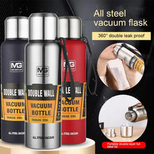Load image into Gallery viewer, Heavy Duty Stainless Steel Double Vacuum Insulated Thermos Flask Water Bottle 17 oz 500ml 750ml 1000ml 1500ml 12 oz 16 oz 20 oz 24 oz 32 oz 50 oz | Portable Eco Wide Mouth Stylish Military Design Outdoor Travel Sports Bike Hiking Bottles. Buy Online Hydroflask Stanley Hot and Cold Tumbler Leak Proof Metal Hydro Flask