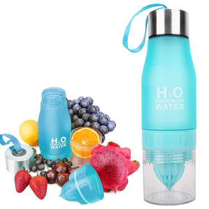 The H2O BPA Free Fruit Infusion Water Bottle with Lemon Holder Juicer Cup. Create flavored infused recipes best detox infusion drinks Buy H20 Drink More Water online. Best Fruit Infusion Water Bottles for Sale with Lemon Container Compartment 2021. Order Amazon Walmart Best Price Buy Ebay Reviews Free Shipping Best Fruit Infused Water Bottles in 2021