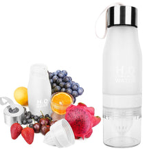 Load image into Gallery viewer, The H2O BPA Free Fruit Infusion Water Bottle with Lemon Holder Juicer Cup. Create flavored infused recipes best detox infusion drinks Buy H20 Drink More Water online. Best Fruit Infusion Water Bottles for Sale with Lemon Container Compartment 2021. Order Amazon Walmart Best Price Buy Ebay Reviews Free Shipping Best Fruit Infused Water Bottles in 2021