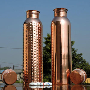 Handmade Pure Copper Thermos Travel Water Bottle | Ayurveda Copper Vessel | Hammered & Smooth 34 oz-The H2O™ Water Bottles-The H2O™ Water Bottles - Buy Now Order For Sale Best Price Online Shop Purchase Review Amazon Walmart Best Buy Free Shipping