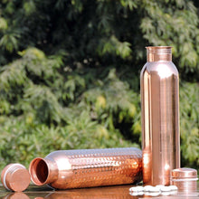 Load image into Gallery viewer, Handmade Pure Copper Thermos Travel Water Bottle | Ayurveda Copper Vessel | Hammered & Smooth 34 oz-The H2O™ Water Bottles-The H2O™ Water Bottles - Buy Now Order For Sale Best Price Online Shop Purchase Review Amazon Walmart Best Buy Free Shipping