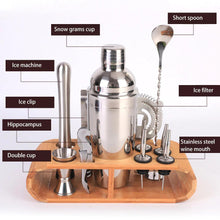 Load image into Gallery viewer, Heavy Duty 12-Piece Stainless Steel Bartender Kit | Bar Tool Set with Stylish Bamboo Stand | New-The H2O™ Water Bottles-The H2O™ Water Bottles - Buy Now Order For Sale Best Price Online Shop Purchase Review Amazon Walmart Best Buy Free Shipping