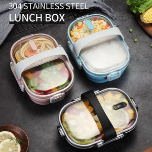 Japanese Style Stainless Steel Bento Lunch Box & Food Container For Adults & Kids | 22 oz-The H2O™ Water Bottles-The H2O™ Water Bottles - Buy Now Order For Sale Best Price Online Shop Purchase Review Amazon Walmart Best Buy Free Shipping