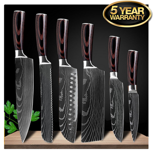 "High Carbon 7CR17 Stainless Steel Professional Knife Set | Commercial, Home | Heavy Duty Traditional Japan Knives Complete Set | XITUO Damascus Chef Knife Set for Restaurant Use | Best Kitchen Knife Set: 8"" Chef Knife Cleaver Japanese Santoku knife Paring knife Bread Slicing Boning Knife Razor Sharp Blade Buy Online"