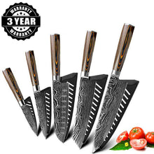 Load image into Gallery viewer, Japanese Ultra Sharp High Carbon 7CR17 Stainless Steel Professional Chef Knife Set | Commercial & Home