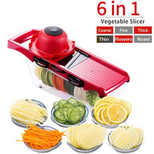 Load image into Gallery viewer, Multi Function 6-in-1 Vegetable Cutter & Mandoline Slicer with Interchangeable Stainless Steel Blades-The H2O™ Water Bottles-The H2O™ Water Bottles - Buy Now Order For Sale Best Price Online Shop Purchase Review Amazon Walmart Best Buy Free Shipping