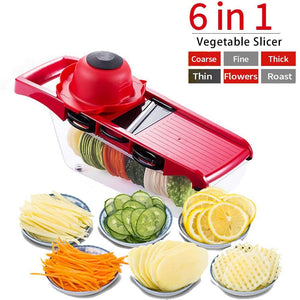 Multi Function 6-in-1 Vegetable Cutter & Mandoline Slicer with Interchangeable Stainless Steel Blades-The H2O™ Water Bottles-The H2O™ Water Bottles - Buy Now Order For Sale Best Price Online Shop Purchase Review Amazon Walmart Best Buy Free Shipping