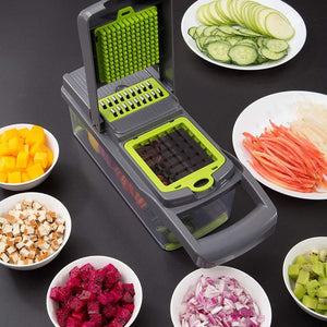 2019 New High Quality German Blades Multi Function Vegetable Cutter & Mandoline Slicer Adjustable 301 Stainless Steel Blades Onion Fruits Fries Tomato Cucumber Cheese Potato Fry Carrot Veggie Machine | Best Quality Mandoline Shredder| Vegetable Chopper Grater Salad Potato Chip Maker | Thin Thick Coarse Wave Strips Cut Buy Online