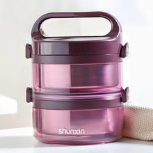 Load image into Gallery viewer, Multi-Layer Stainless Steel Vacuum Insulated Portable Premium Lunch Box for Adults & Kids-The H2O™ Water Bottles-2 Layer-Purple-The H2O™ Water Bottles - Buy Now Order For Sale Best Price Online Shop Purchase Review Amazon Walmart Best Buy Free Shipping