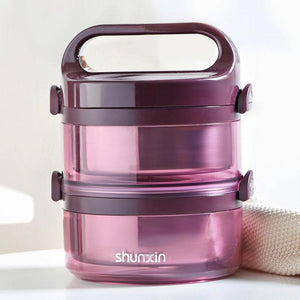 Multi-Layer Stainless Steel Vacuum Insulated Portable Premium Lunch Box for Adults & Kids-The H2O™ Water Bottles-2 Layer-Purple-The H2O™ Water Bottles - Buy Now Order For Sale Best Price Online Shop Purchase Review Amazon Walmart Best Buy Free Shipping